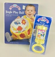 Vintage Baby Toy Jingle Play Ball Chime Rattle Toy New Box 1990-1994 Inflatable