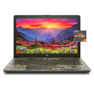 "NEW HP 15.6"" HD AMD Ryzen 3 3200U 3.5GHz 8GB 256GB SSD Windows 10 Laptop Camo"