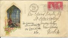 Jamaica SG#118 Christmas Card rate DEC/11/1937 to USA redirected