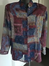 WOMEN'S MILLERS LONG SLEEVE SHEER SHIRT - SIZE 10