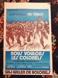 Nous Voulons Les Colonels Original Belgian Movie Poster Affiche 1973