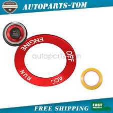 Accessories for Dodge engine start-stop switch knob are decorated in red USA