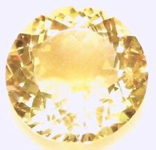 14.74 Cts Natural Loose Gem Round Cannary Yellow Quartz Citrine 16.9x9.7 (WxD)