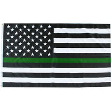 Thin Green Line Military Grommet Flag Armed Forces 3' x 5' Briarwood Lane