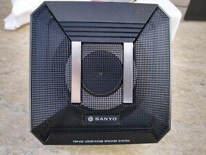 "Vintage Sanyo FSP402 2-Way 4"" Honeycomb Car Audio Speakers New"