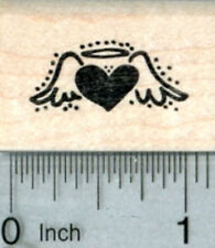 Heart Angel Rubber Stamp, Tiny Size A32716 WM