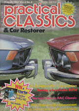 Practical Classics magazine 08/1987 featuring BMW, Ford Zephyr