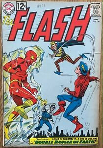THE FLASH COMIC (DC,1962) #129 2ND GOLDEN AGE FLASH CROSSOVER SILVER AGE ~