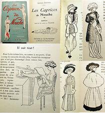 MODE/CAPRICES DE NOUCHE/C.DERENNES/ED VIE PARISIENNE/100 DESSINS PAR TOURAINE/OC