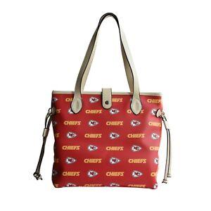 Kansas City Chiefs Patterned Tote Bag Handbag