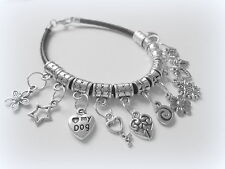 Tibetan Silver Costume Charms & Charm Bracelets with Mixed Themes