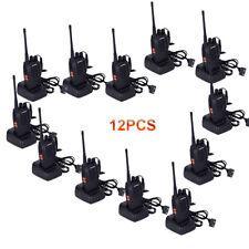12PCS Baofeng BF-888S Ham Walkie Talkie UHF 400-470MHz 5W + FM Radio + Écouteur