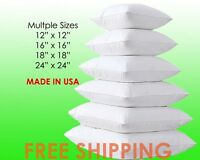 NEW Square Euro Pillow Form Insert - ALL SIZES - Made In USA Pillow Forms Insert