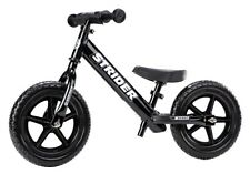 STRIDER 12 Sport Kids Balance Bike No-Pedal Learn To Ride Pre Bike Black NEW