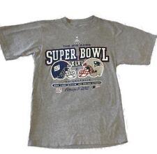 Reebok Super Bowl 2012 New York Giants New England Patriots Shirt Size Small A28