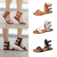 Summer Ladies Women Fashion Sandals Fashion Flat Roman Shoes Casual Shoes Size