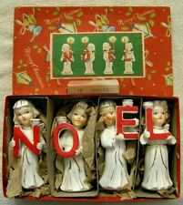 Vintage 1957 Relco Noel Angel Candle Holders With Box & Candles Mint Condition