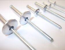 Aluminium Rivets 3.2mm X 16mm. Ouverte. Dôme Tête Paquet De 100. Haut Qualité