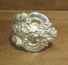 Spoon Ring Band, Wallace Grand Baroque Sterling Silver 18.5 grams, Size 9, #218