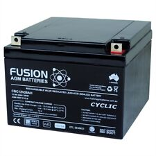 12V 26AH FUSION AGM/SLA DEEP CYCLE BATTERY SCOOTER GOLF CART BUGGY WHEELCHAIR