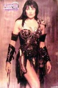 XENA WARRIOR PRINCESS ORIGINAL SEPIA POSTER 23X35 - NEW SEALED MINT & RARE #1393