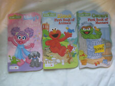 Lot of 3~Sesame Street First Book ~Abby Elmo Oscar~New HC Board Book~LBDDK