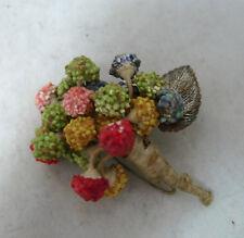 Broche Vintage Flores de Plástico 4.8 cm X 6 cm A602017