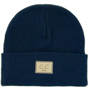CC Kids Classic Ages 2 to 5 Soft Stretchy Knit Chunky Slouch Beanie Cap