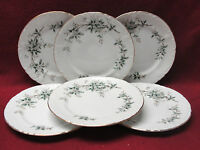 "Set SIX (6) JAPAN CHINA - SPRINGTIME Pattern 18009 - 6"" Bread/Dessert PLATES"