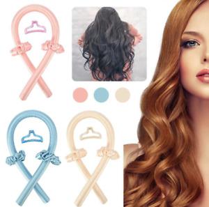 Heatless Curling Rod Headband No Heat Curls Silk Ribbon Hair Rollers Soft Wave