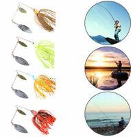 4pcs/PACK Buzzbait Fishing Lures Spinner Bait Jigs head Sharp Q9O0 Lead Hoo D9F4