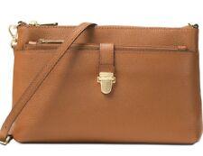 b223d270baed New Michael Kors Leather mercer clutch leather large snap pocket crossbody  acorn