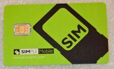 Simple Mobile 4G Lte Gsm Prepaid Nano Sim Card Sm64Psimt5Nb