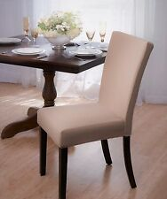 """CLOSEOUT !! """"STRETCH""""  DINING CHAIR COVER--SUBWAY TILE--BEIGE--AVAIL IN 4 COLORS"""