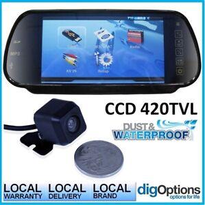 ".7"" HD Digital Clip On Mirror 170° View High Resolution CCD Inc Mini HD Camera"
