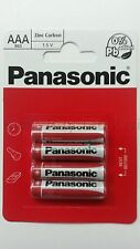 Pack of 4 Panasonic ' AAA ' Size R03 Zinc Carbon 1.5 V Battery