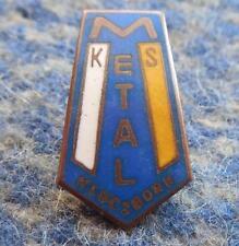 METAL KLUCZBORK POLAND FOOTBALL SOCCER FUSSBALL 1980's SMALL ENAMEL PIN BADGE