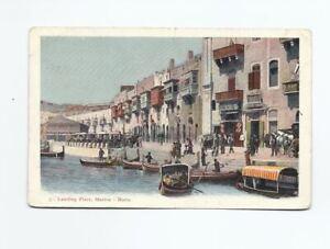 Vintage Postcard of Landing Place, Marina, Malta