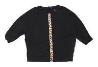 Bassini Womens Size M Animal Print Black T-Shirt (Regular)