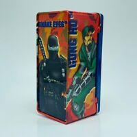 GI Joe action figure hasbro toy cobra tin case weapons holder Snake Eyes Duke
