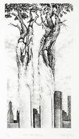 """Surrealismus. """"About New York IV"""" 1980. Marcel JEAN (1900-1994 FRA) handsigniert"""