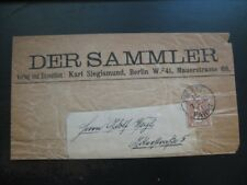 BERLIN PACKETFAHRT LOCALS 1895 scarce cover/newspaper wrapper!