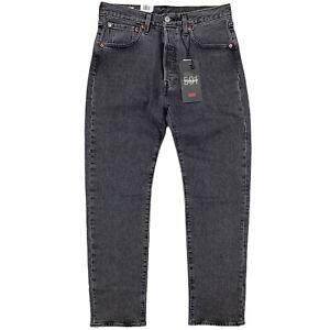 Levi's Men's 501 '93 Straight Jeans 'Raisin Stone' Black Wash Stretch Fit Denim