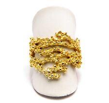 Anello fede fedina sarda filigrana argento dorato