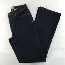 NEW Denim & Co Regular Modern Waist Stretch Boot Cut Jeans Size 4 Blue Denim QVC