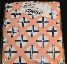 Bacati Olivia Tribal Dots Cross Coral Navy Quilted Changing Pad Cover new #25897