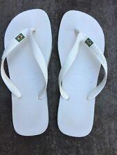 Used Men's blanc taille 7 Havainas Flip Flop Plage Été Sandales