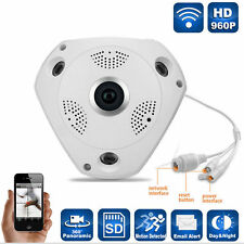 130W  Panoramic Fisheye IP Camera Wifi Security Camera Surveillance VR 3D Cam