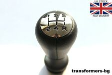 GEAR SHIFT KNOB NERO chrome-5 SPEED regime PEUGEOT 106 206 207 306 307 406 NUOVO.