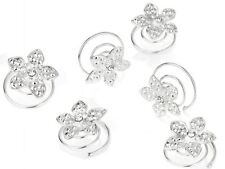Silver Crystal Flower Hair Jewels Hair Accessories UK